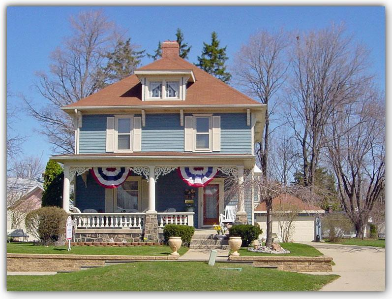 1912 American Foursquare In Flushing Michigan Oldhouses Com