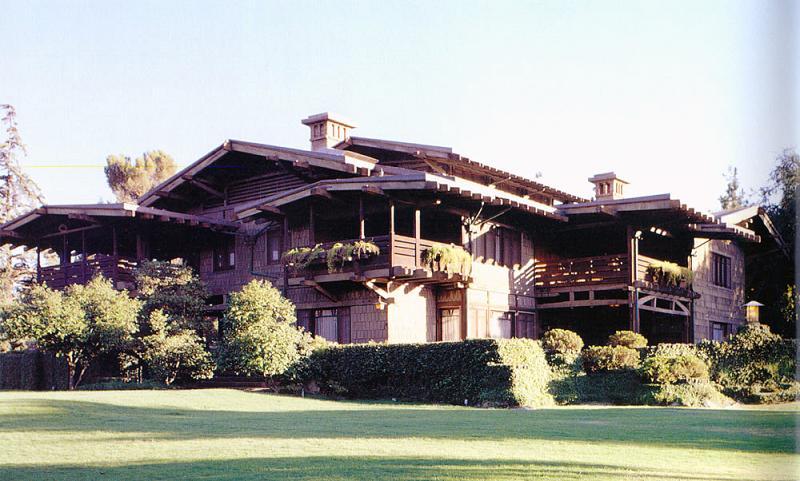1909 craftsman bungalow in pasadena california for Pasadena craftsman homes