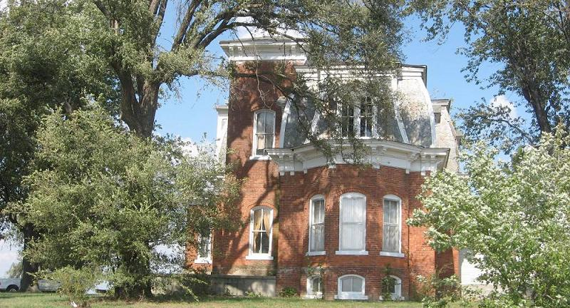 C 1861 Victorian Second Empire In Jerseyville Illinois