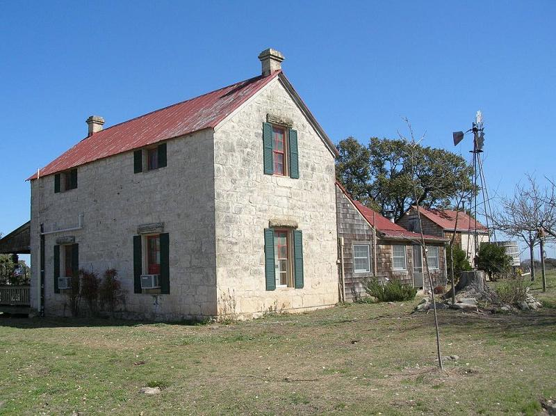 C 1880 stone home in fredericksburg texas for Texas stone homes