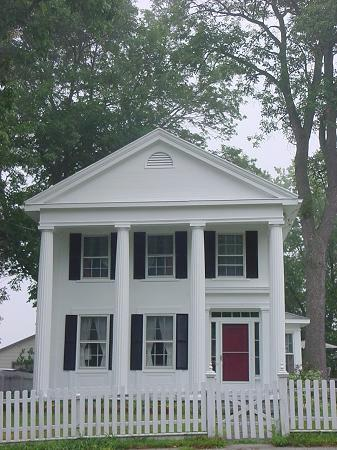 greek revival home hudson river valley front view - Greek Revival Cottage
