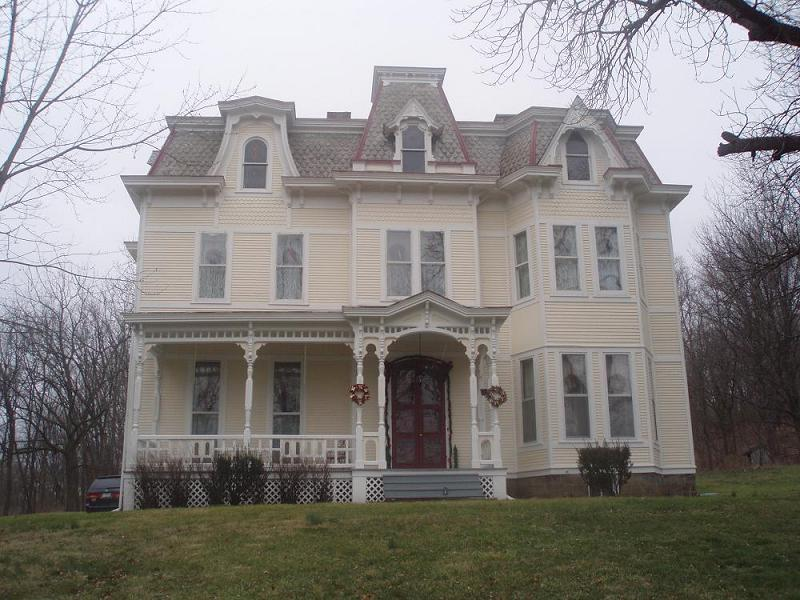 Exterior Front View Victorian Second Empire in