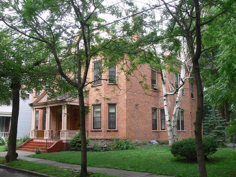 brick apartment building. Victorian Apartment Building  Stately Brick c 1900 in Schenectady New York OldHouses com