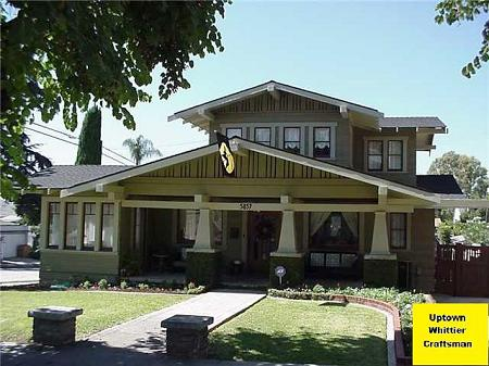 1917 craftsman bungalow 1917 craftsman in whittier for Craftsman homes for sale in california