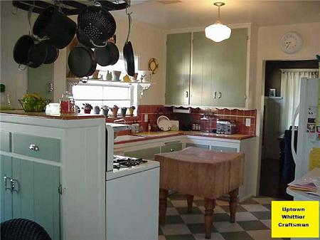 restored kitchen cabinets 1917 craftsman bungalow in whittier california 1917