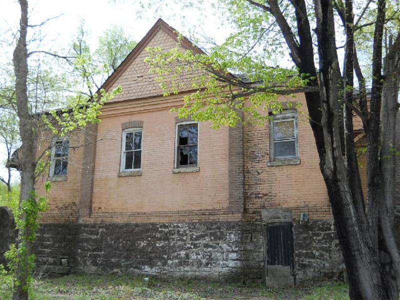 Side view of the school house