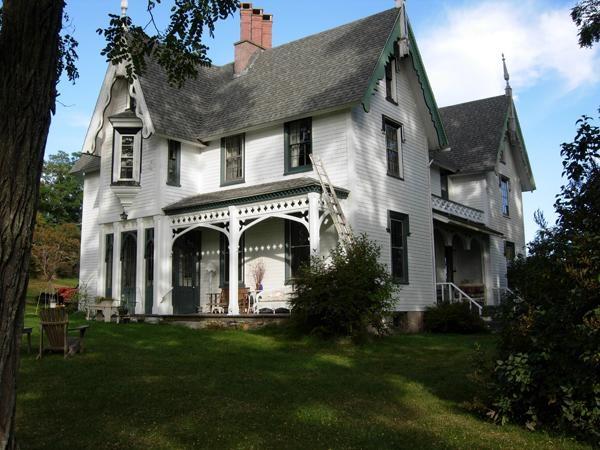 C 1845 gothic revival in gagetown for Gothic revival homes for sale