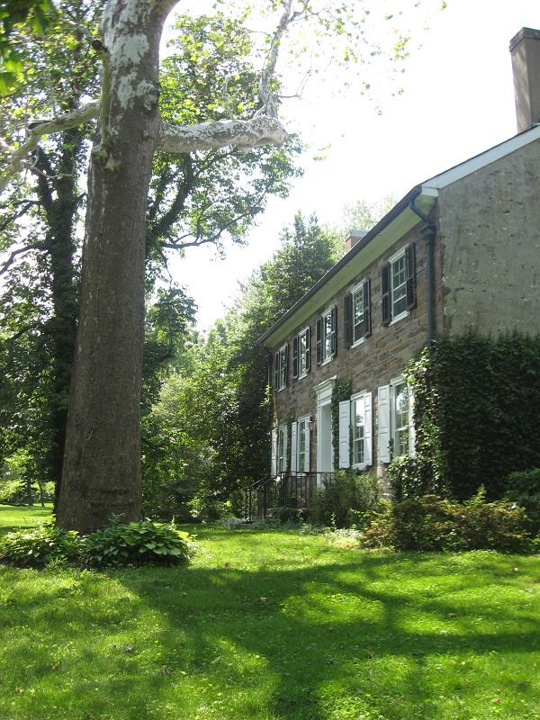 C 1810 New England Colonial Stone Farmhouse In Lawrence Township