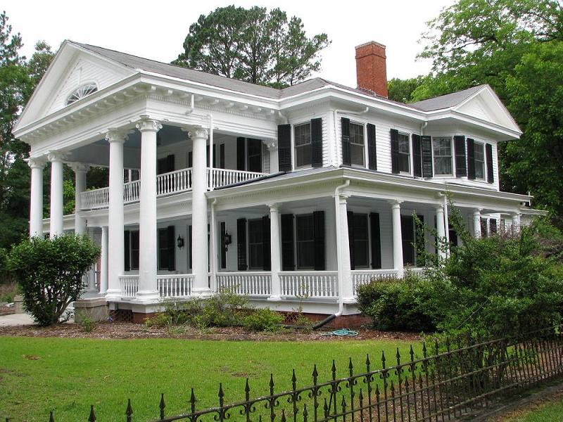 C 1911 early classical revival in clio south carolina for Savannah style house plans