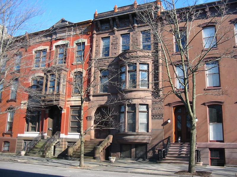 C 1890 brownstone row house in troy new york for Brownstone home designs