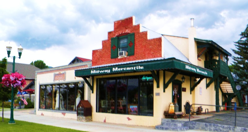 the Midway Mercantile (antique store & art gallery)