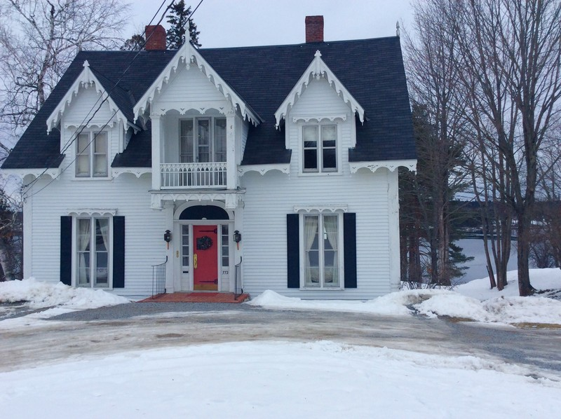 1855 gothic revival in calais maine for Gothic revival homes for sale