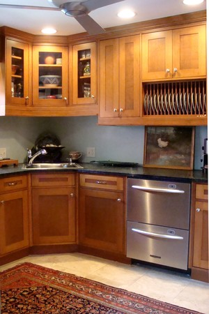 Custom designed kitchen constructed by fine carpenter.
