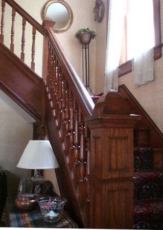 Main Oak Stairway to Third Floor