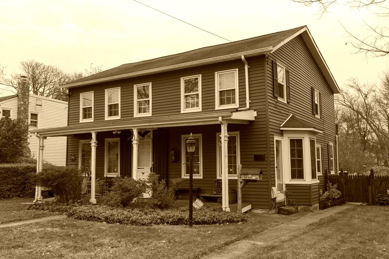 Front of the House in Sepia