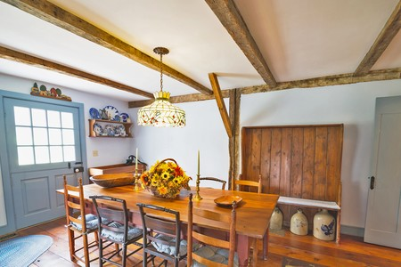 Dutch Door in Dining Room
