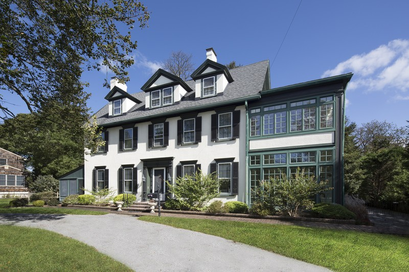 Stunning Stucco Colonial Manse
